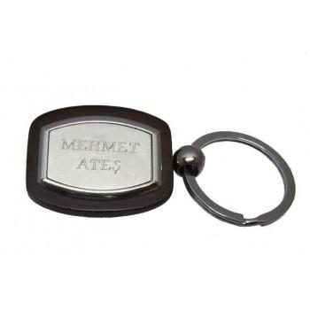 İsme Özel Ahşap ve Metalin Birleştiği Anahtarlık 11
