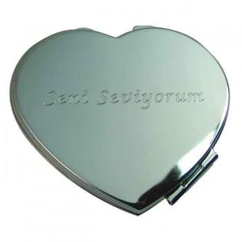 Kişiye Özel Kalp Model Metal Ayna