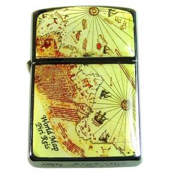 İsim Yazılı Piri Reis Haritalı Sigara Tabakası ve çakmak seti