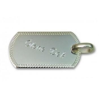 İsim Yazılı 925 Ayar Gümüş  Kolye 17x31mm