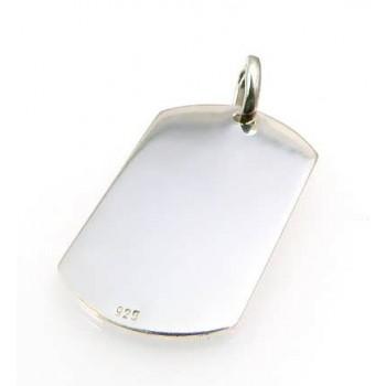 Foto Baskılı 925 Ayar Gümüş Künye