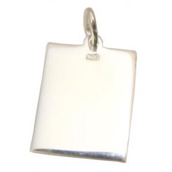 Foto Baskılı 925 Ayar Gümüş Kenar desenli Kolye