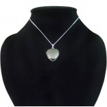içine foto konulan kalp modeli harf yazılabilen gümüş kolye