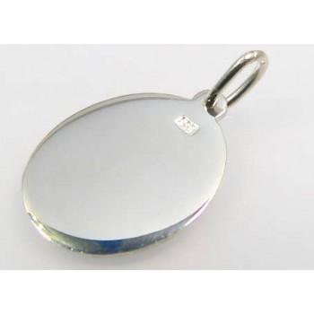 Fotoğrafınız Basılı 925 Ayar Gümüş Oval Kolye