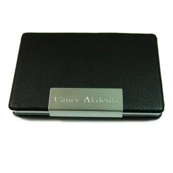 İsme Özel Deri Kartvizitlik Kalem ve USB Bellek Seti