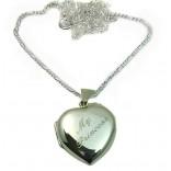 925 Ayar Gümüş İçine Foto Konulan Kalp Kolye 6