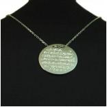 Arapça Ayetel Kürsi Yazılı Gümüş Kolye Kişiye Özel